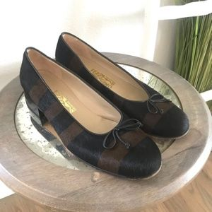 Salvatore Ferragamo | Striped Calf Hair Flats